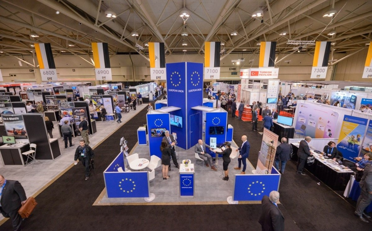 EU booth at PDAC 2019